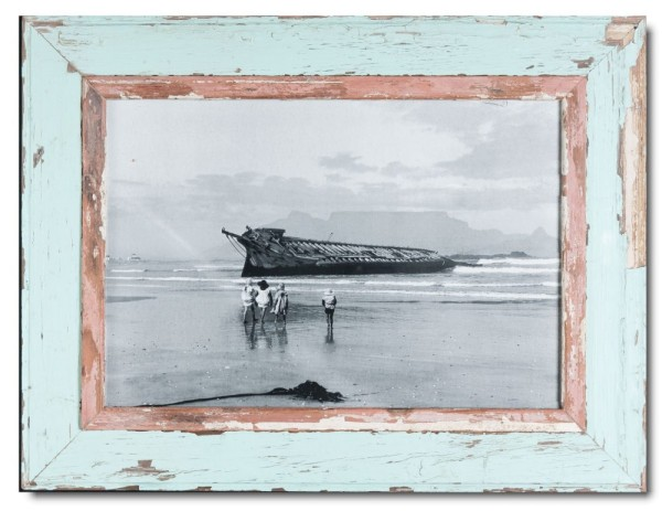 Reclaimed wood frame for photo format 42 x 29,7 cm
