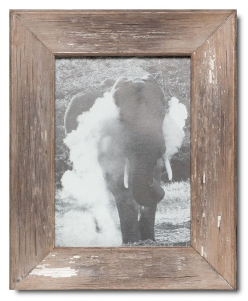 Distressed wooden picture frame for photo size 29,7 x 21 cm