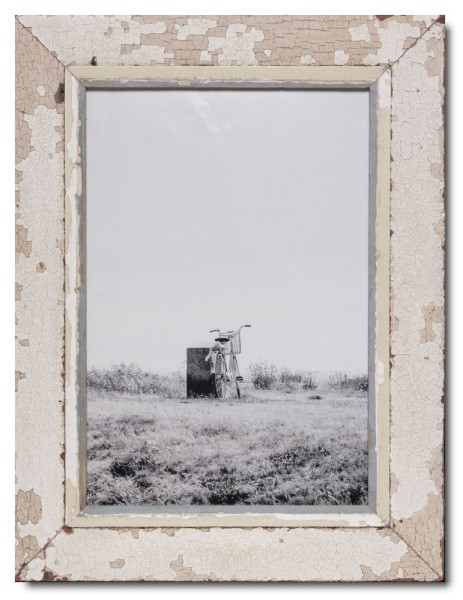 Rustic timber picture frame for picture size A3