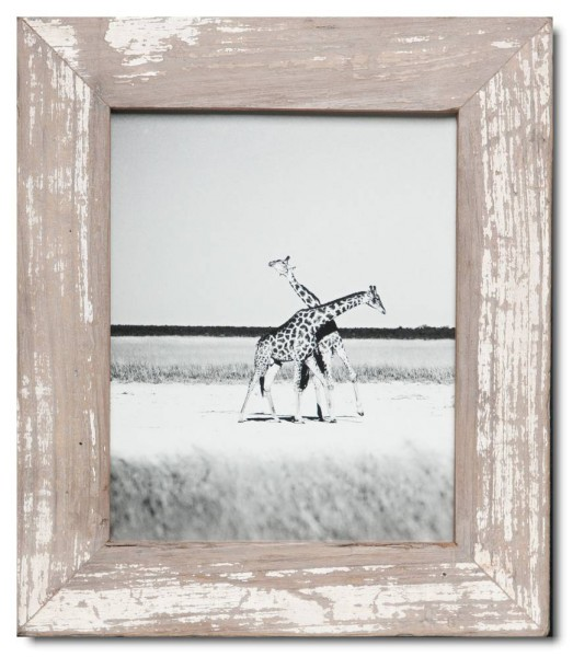 Basic distressed wooden frame square for photo size 20 x 25 cm