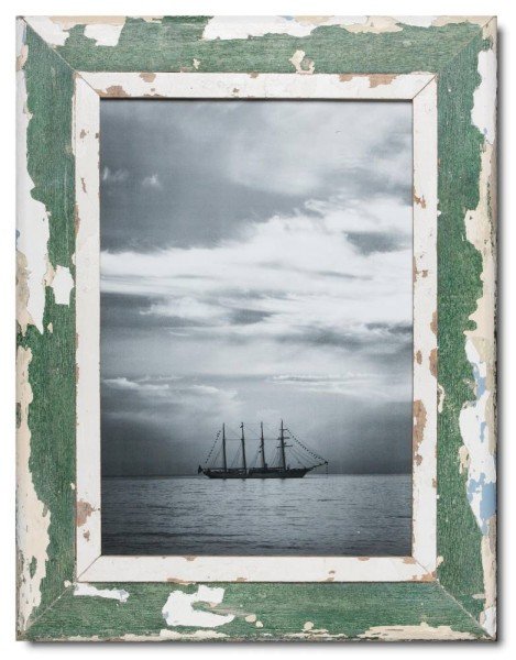 Distressed wooden frame for picture size 42 x 29,7 cm