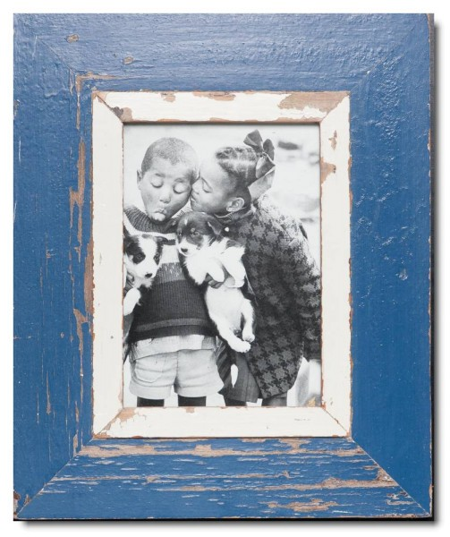 Rustic timber picture frame for picture size 14,8 x 21 cm