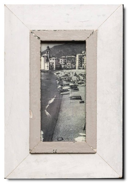 Panoramic rustic timber frame for photo format 21 x 10,5 cm