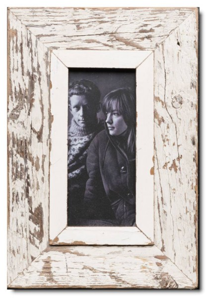 Panoramic reclaimed wood picture frame for photo format A5 panoramic