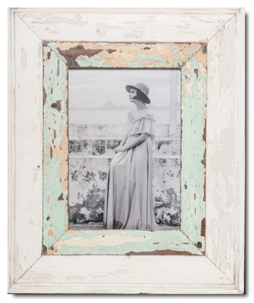 Wide reclaimed wood photo frame for photo size A4