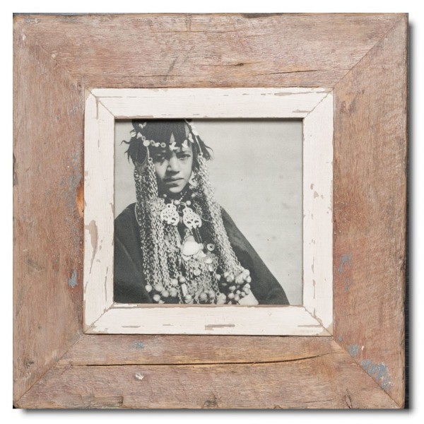 Square Reclaimed wood frame for picture format 14,8 x 14,8 cm