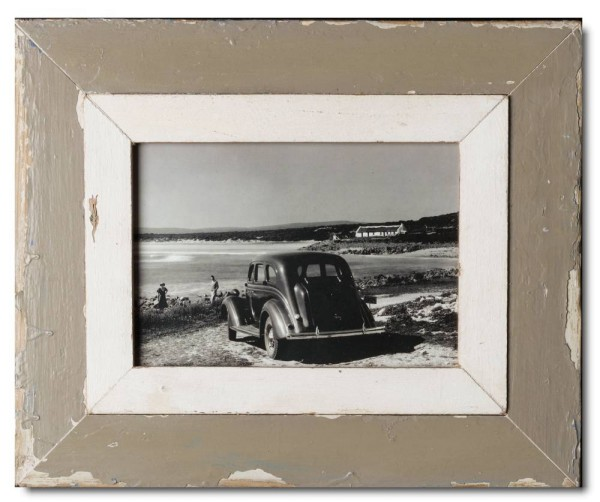 Wide rustic timber picture frame for photo format 29,7 x 21 cm