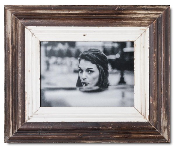 Wide rustic timber picture frame for picture size A4