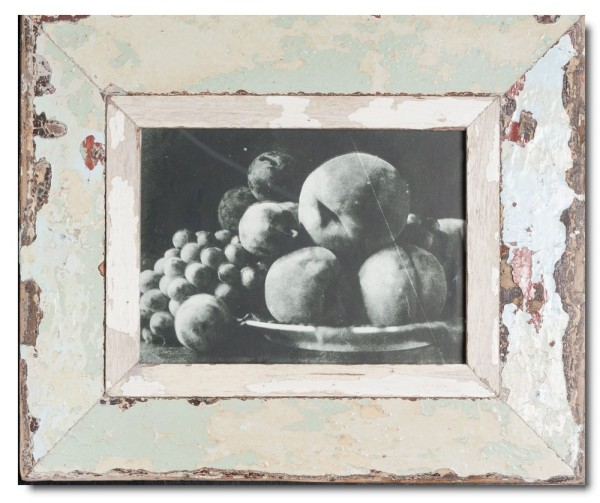 Reclaimed wood frame for picture format A5