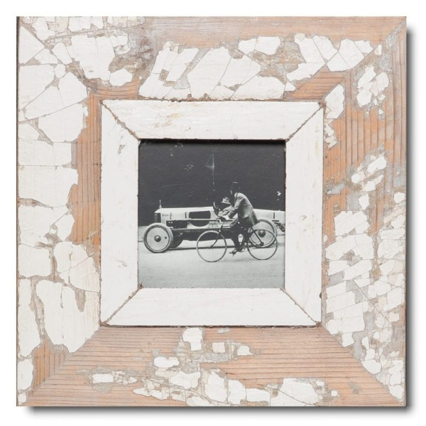 Square distressed wooden frame square for picture size A6 square