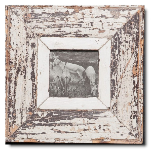 Square distressed wooden frame square