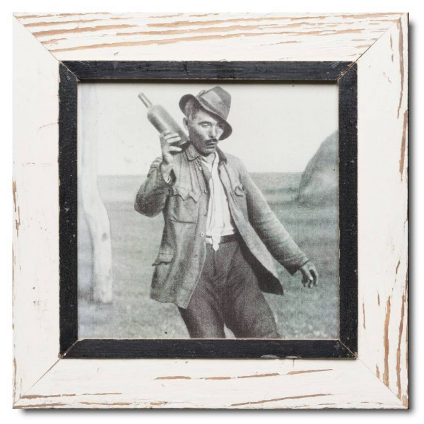 Square rustic timber photo frame for picture size 29,7 x 29,7 cm
