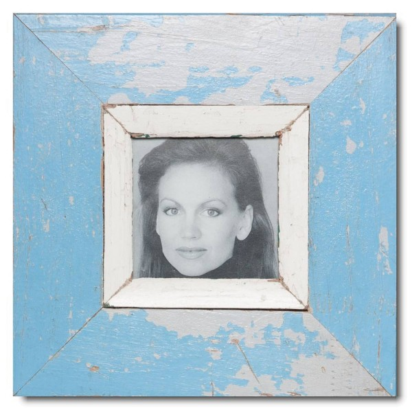 Square Reclaimed wood frame for photo size 10,5 x 10,5 cm