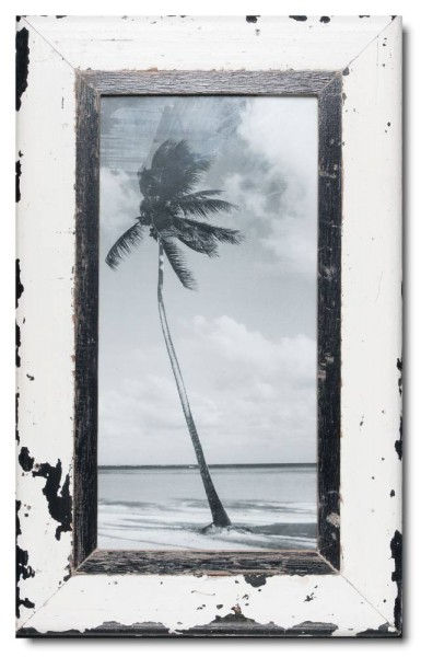 Panoramic distressed wooden frame square for picture format A3 panoramic