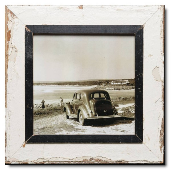 Square distressed wooden frame square for photo size 29,7 x 29,7 cm