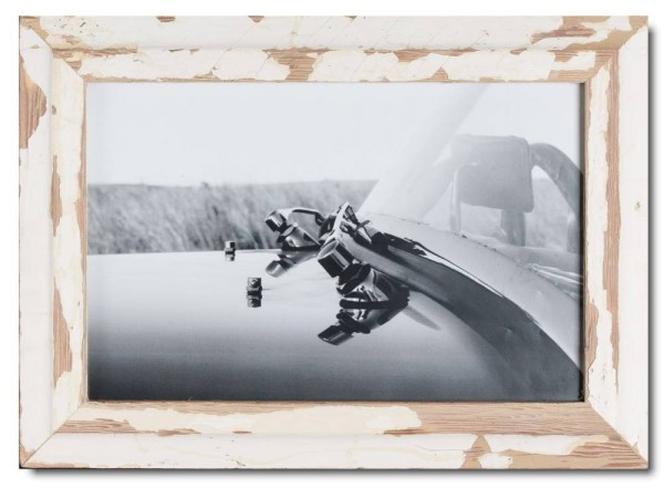 Basic reclaimed wood photo frame for picture size 25 x 38 cm