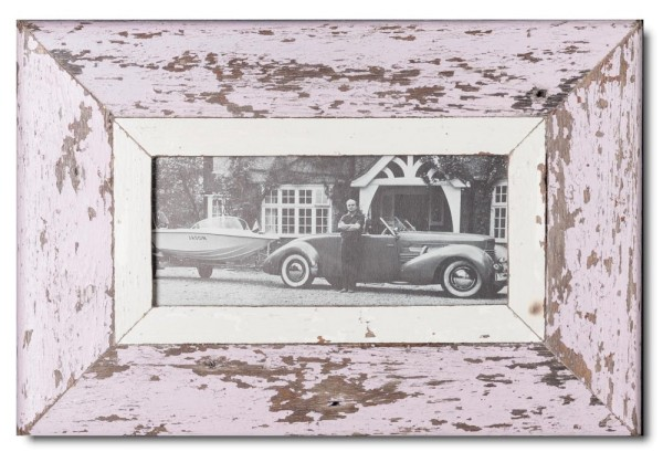 Panoramic rustic timber picture frame for picture size 2:1