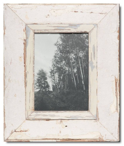 Reclaimed wood frame for photo format 14,8 x 21 cm