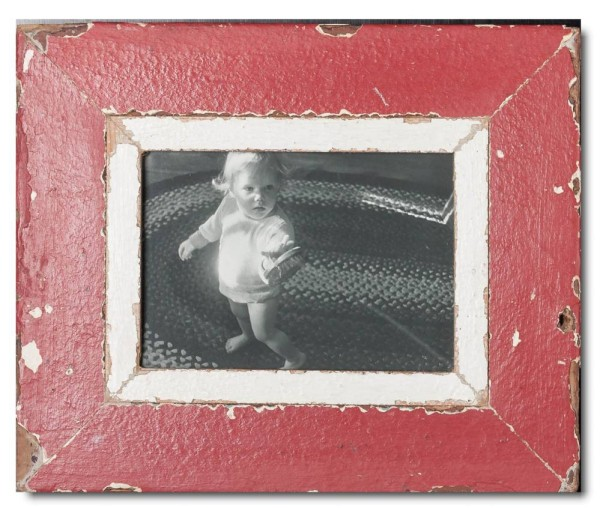 Rustic timber frame for photo size 14,8 x 21 cm