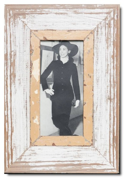 Panoramic Reclaimed wood frame for picture format 21 x 10,5 cm