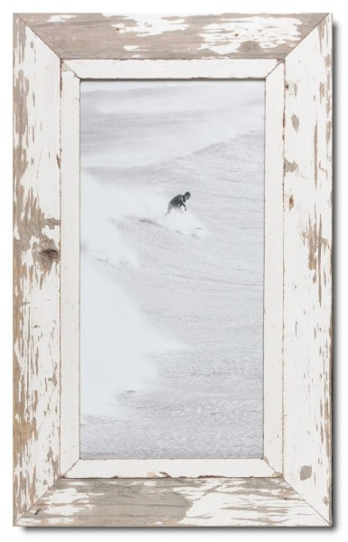 Panoramic rustic timber picture frame for picture format 42 x 21 cm