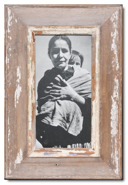 Panoramic reclaimed wood picture frame