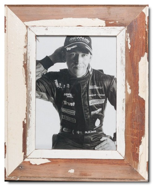 Rustic timber photo frame for picture size A4
