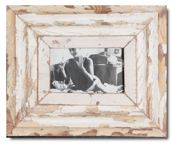 Reclaimed wood picture frame for picture size 14,8 x 10,5 cm
