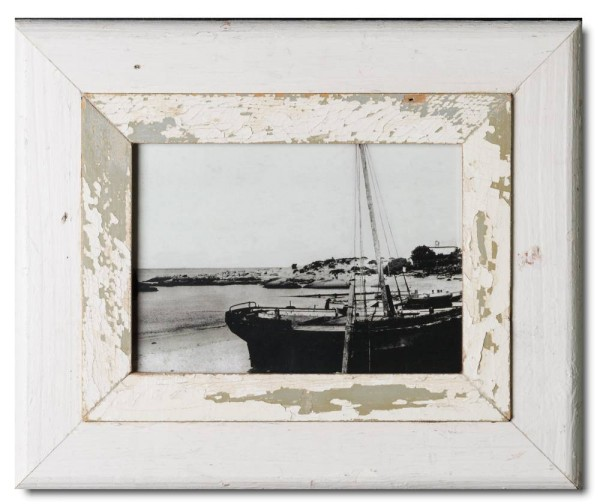 Wide reclaimed wood photo frame for photo size 29,7 x 21 cm