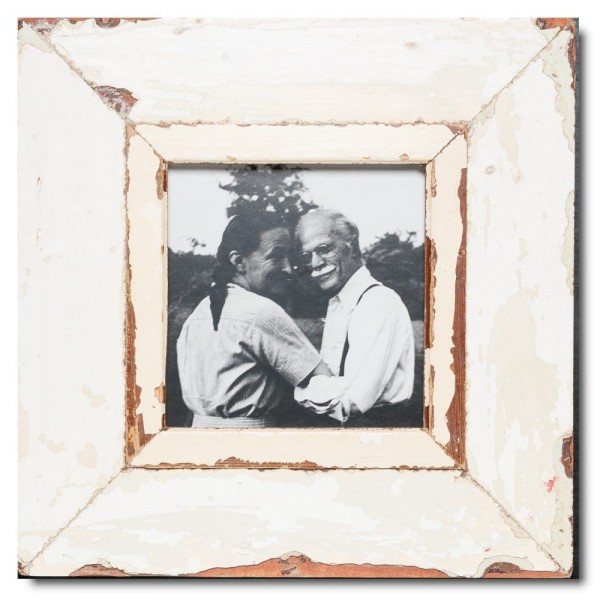 Square distressed wooden frame square for photo size A5 square