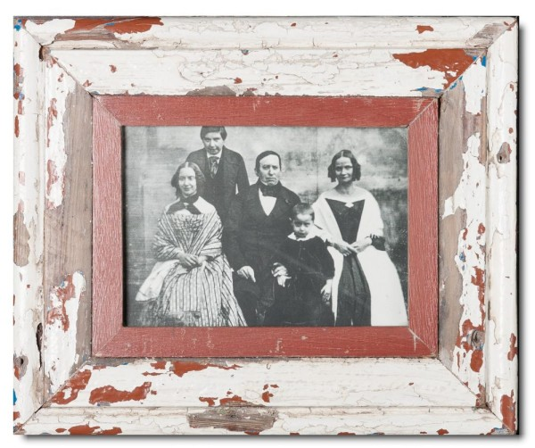 Reclaimed wood photo frame for photo size A5