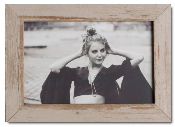 Basic distressed wooden picture frame for picture size 25 x 38 cm