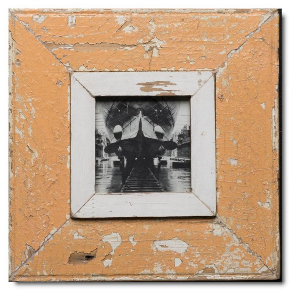 Square rustic timber photo frame for picture size A6 square