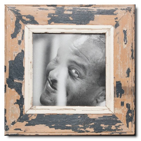 Square Reclaimed wood frame for photo size 21 x 21 cm