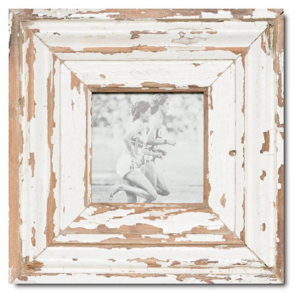 Square reclaimed wood picture frame