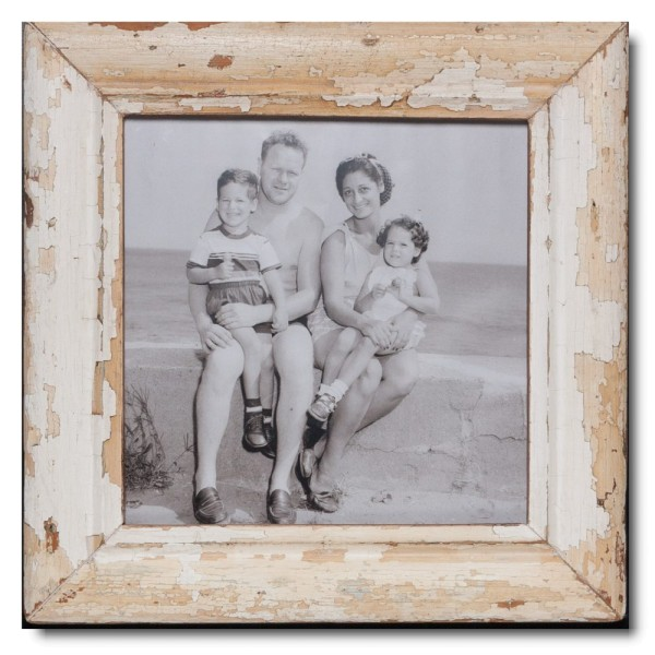 Square rustic timber picture frame for picture format A3 square