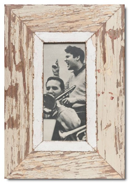 Panoramic rustic timber picture frame for photo format 21 x 10,5 cm