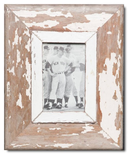 Rustic timber photo frame for photo format A6