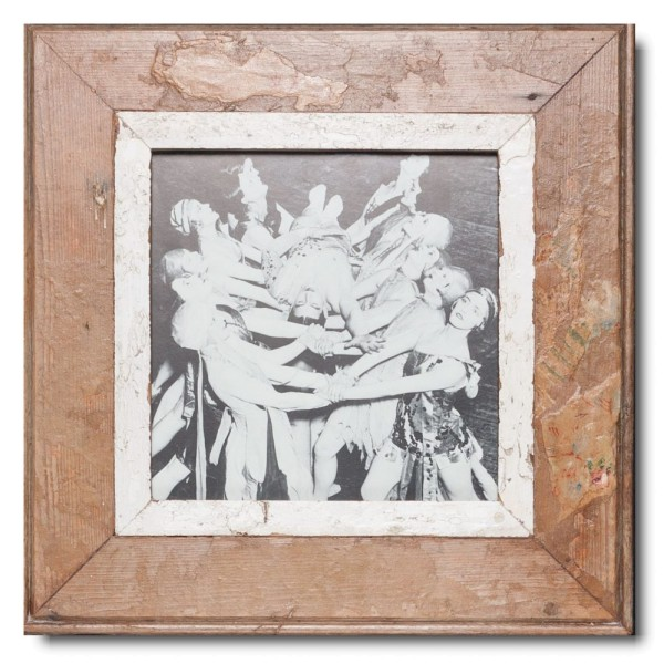 Square rustic timber picture frame for photo size A4 square
