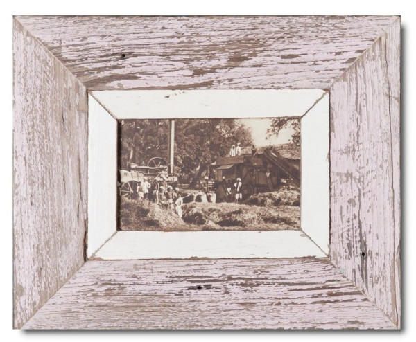 Reclaimed wood frame for photo format A6