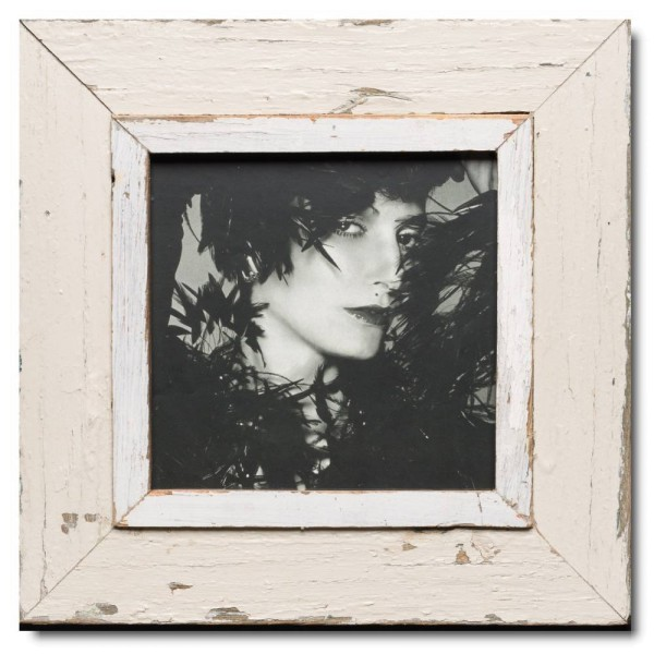 Square distressed wooden picture frame for picture size 21 x 21 cm