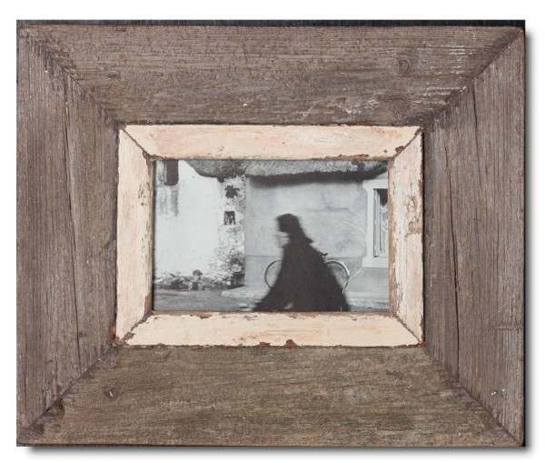 Rustic timber photo frame for photo format 14,8 x 10,5 cm