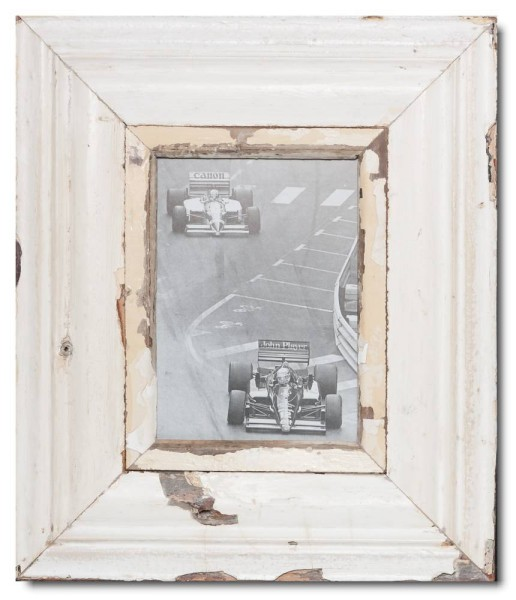 Wide rustic timber picture frame