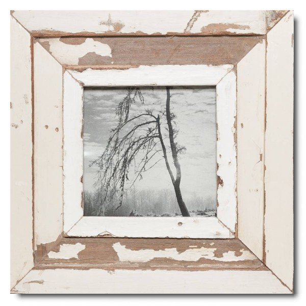 Square rustic timber frame for photo size 14,8 x 14,8 cm