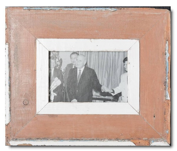 Reclaimed wood frame for photo size 14,8 x 10,5 cm