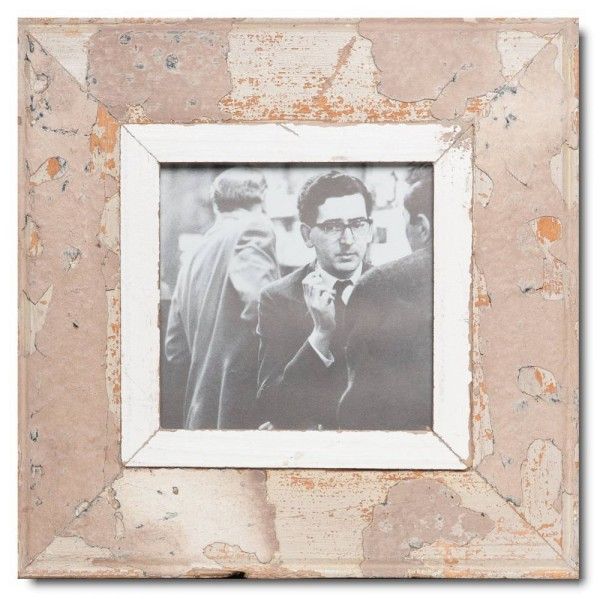 Square rustic timber photo frame for picture format A5 square