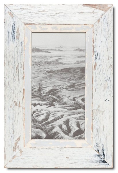Panoramic Reclaimed wood frame for photo size 29,7 x 14,8 cm