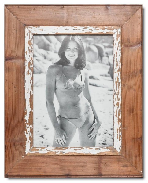 Distressed wooden frame for photo format A4