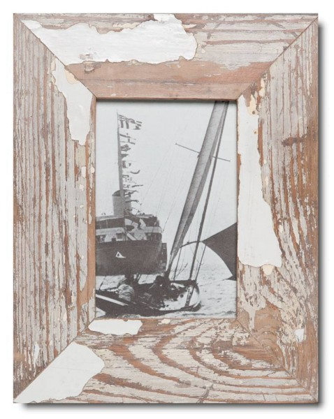 Basic reclaimed wood picture frame for photo size 10 x 15 cm