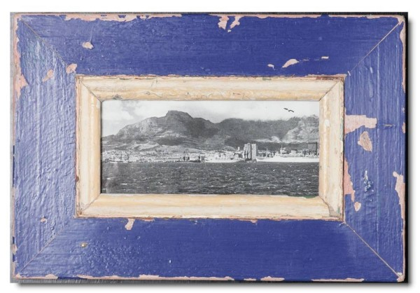 Panoramic rustic timber photo frame for picture size 21 x 10,5 cm